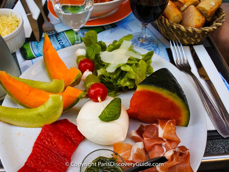 Le Sévigné in the Marais, Paris - summer salad