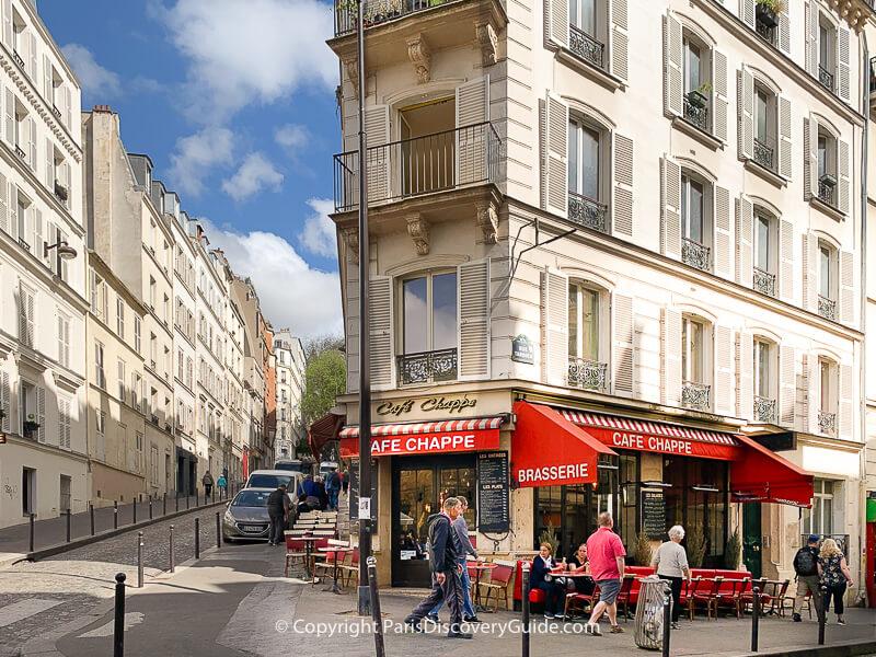 Rue Tardieu in Montmartre near Sacre Coeur