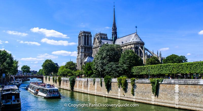 Where Paris began: Île de la Cité in the Seine River, now home to Notre Dame Cathedral