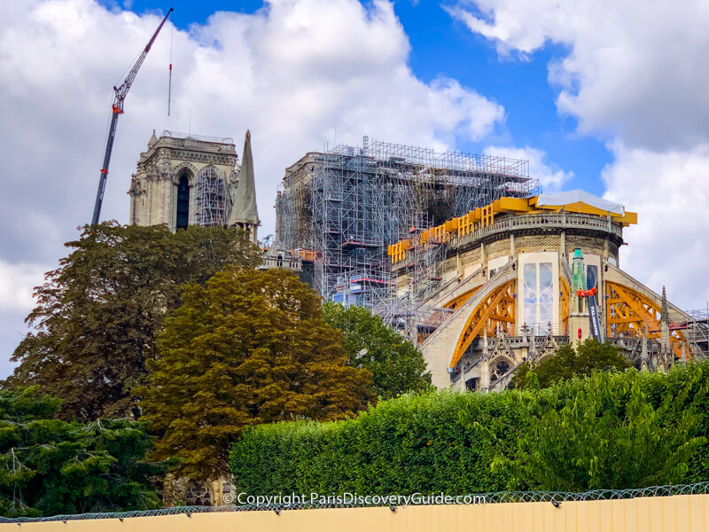 Reconstruction and repairs at Notre Dame Cathedral in Paris
