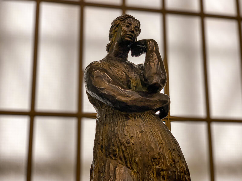 Antoine Bourdelle's massive Penelope sculpture at the Orsay Museum