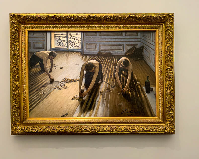 Gustave Caillebotte's 1875 painting The Floor Sanders