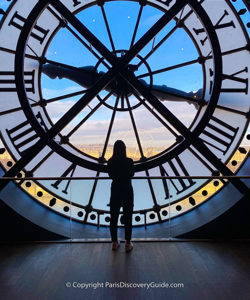Fantastic city views from the clock at the top northeast corner of the Orsay Museum