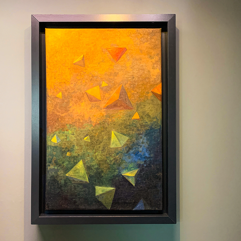 Paul Sérusier's 1910 painting, Tetrahedra, both marks the end of Les Nabis' most influential years and the beginning of abstract art
