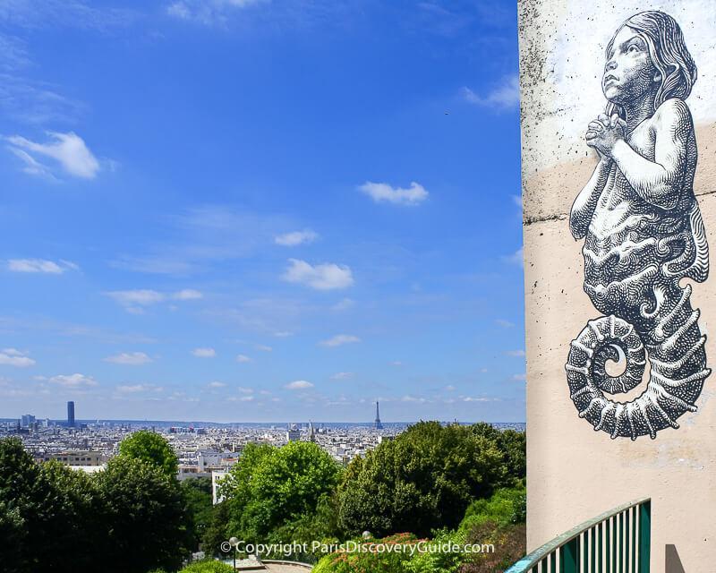View of Paris skyliine from Parc de Belleville