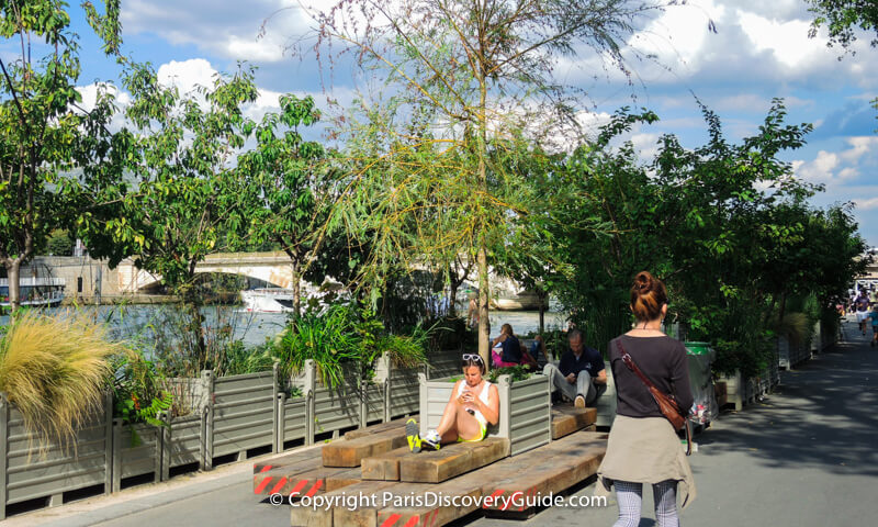 A shady green oasis on the Left Bank at Paris Plages