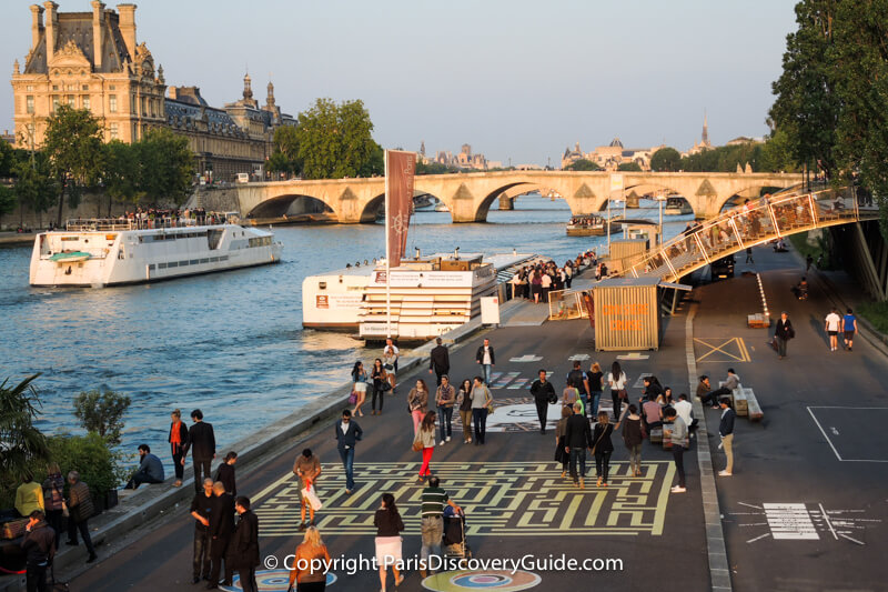 Games on the Left Bank near the Pont Royal bridge for Paris Plage