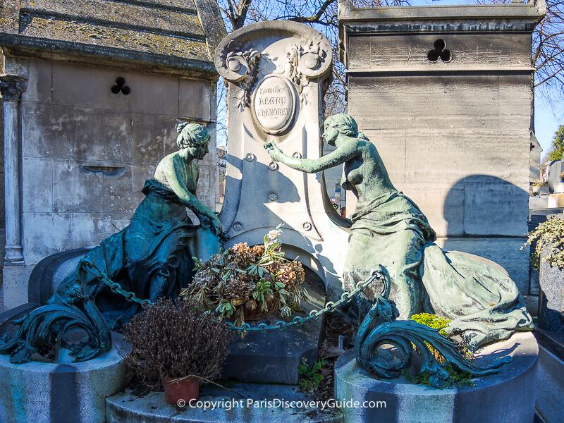 Legru-Lhenoret family tomb at Pere Lachaise Cemetery in Paris