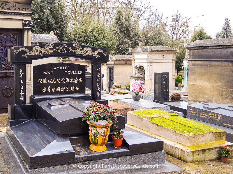 Memorials at Pere Lachaise Cemetery