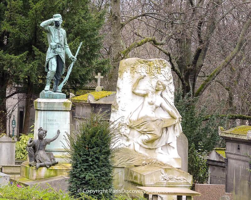 Sculpture on tomb of Alexandre Falguiere