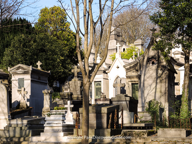 Not all of these Pere Lachaise tombs are as old as they look