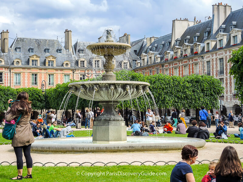 Place de Vosges on a sunny Paris afternoon
