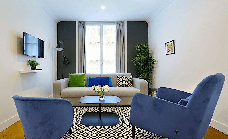 Blue Lagoon apartment in Paris's SoPi neighborhood