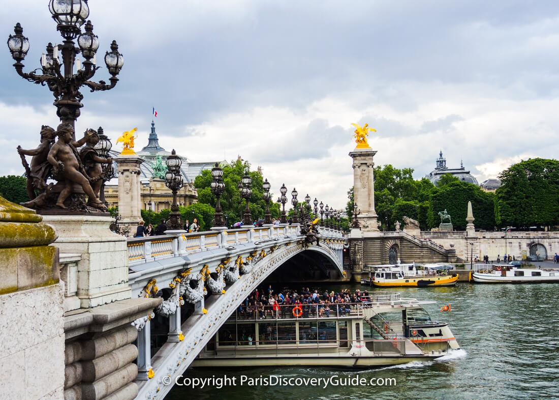 Pont Alexandre III bridge photographed from Left Bank