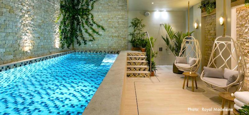Pool and spa at Le Royal Madeleine in Paris's 8th Arrondissement