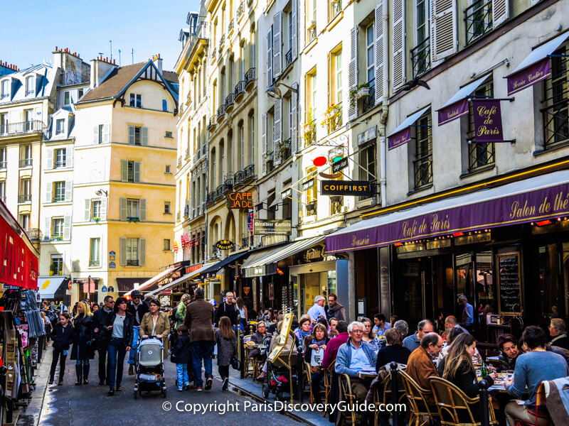 Rue de Buci in the 6th arrondissement - No cars