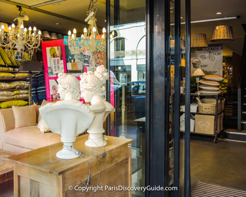 Furniture/design/gallery concept store on Rue de Faubourg Saint-Antoine
