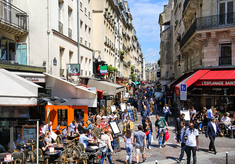 Cafes along Rue Montorgueil