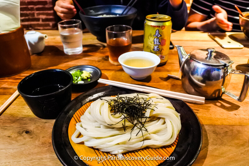 Udon at Japanese restaurant in Paris's Rue Sainte-Anne
