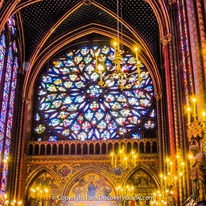 Rose window at west end of Sainte Chapelle
