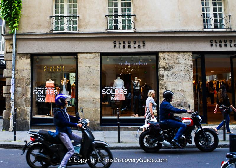 Paris Sales - Marais sale signs
