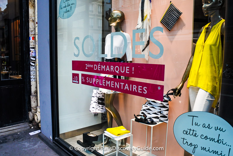 Paris summer and winter sales