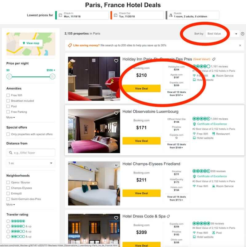 TripAdvisor Paris, France deals