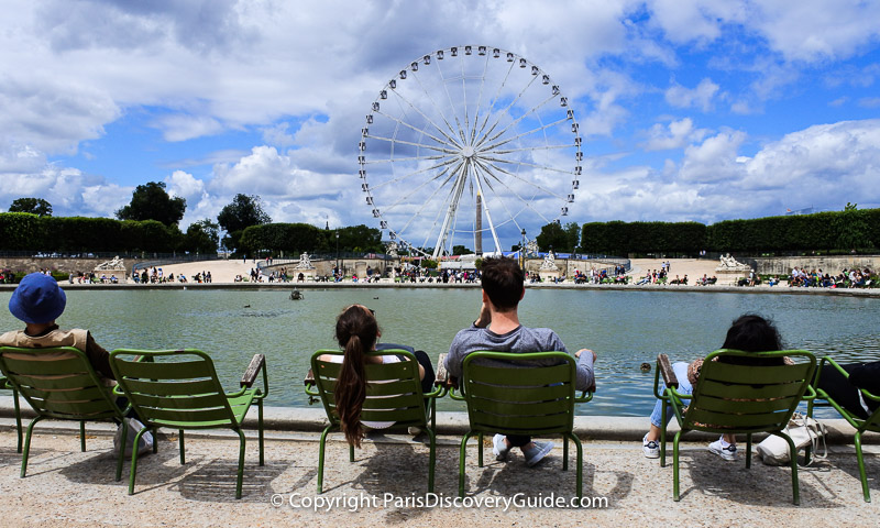 Relaxing in the heart of Paris - Tuileries Garden near the Louvre