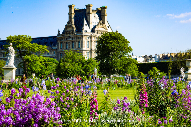 May flowers blooming in Tuileries Garden