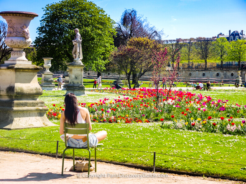 Spring day at Tuileries Garden