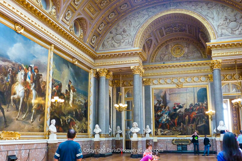 Paintings in the Gallery of Great Battles commissioned by Louis-Philippe, France's 'citizen-king,'in 1833 and created by thetop historical painters of that time including Delacroix and Vernet