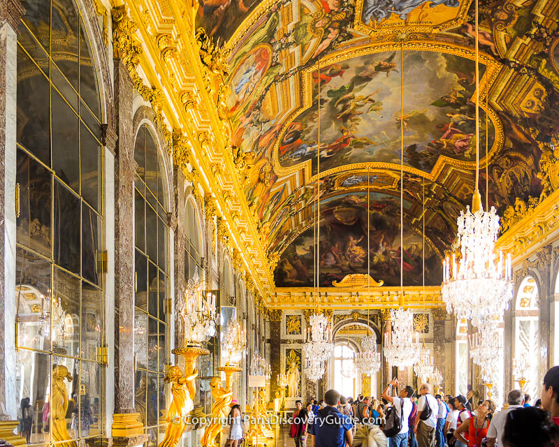 The Hall of Mirrors, Versailles' magnificent ballroom