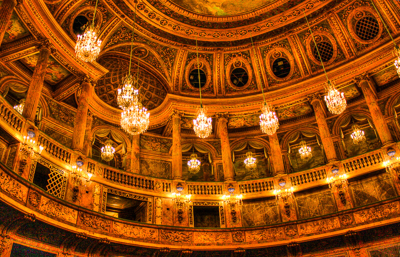 Inside the Royal Opera House at Versailles - Photo credit:  Tanya Hart