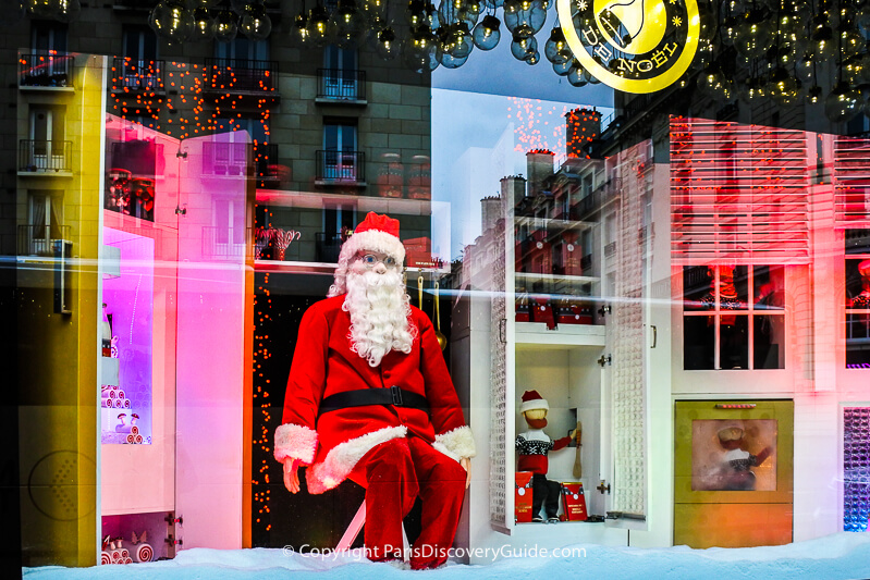 Bon Marché holiday window from a previous year