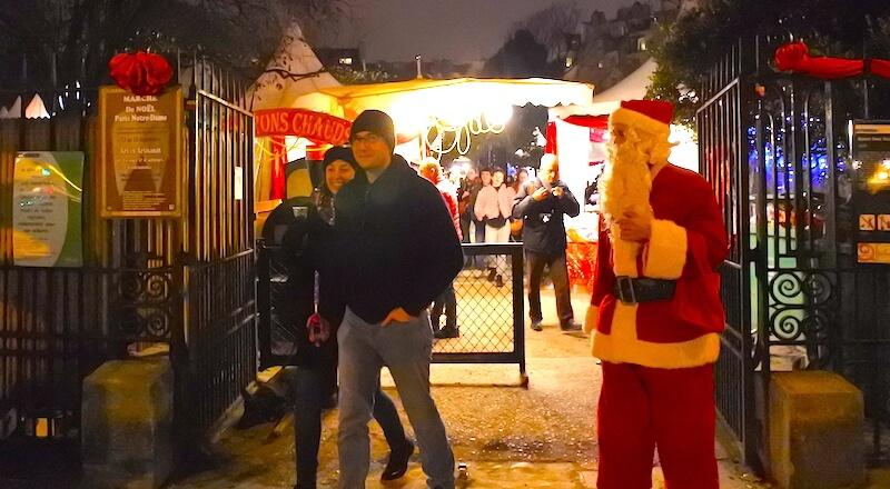 Paris Notre Dame Christmas Market - Santa