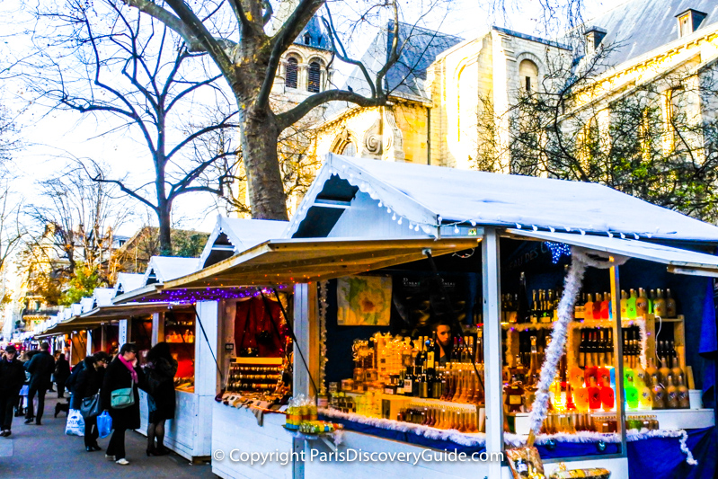 Shoppers at Saint-Germain-des-Prés Christmas Market