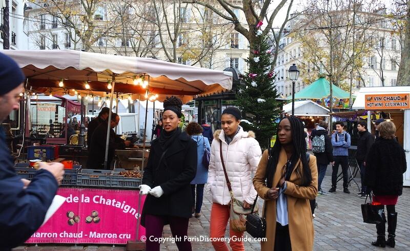 Paris Christmas Market in Montmartre, Place des Abbesses