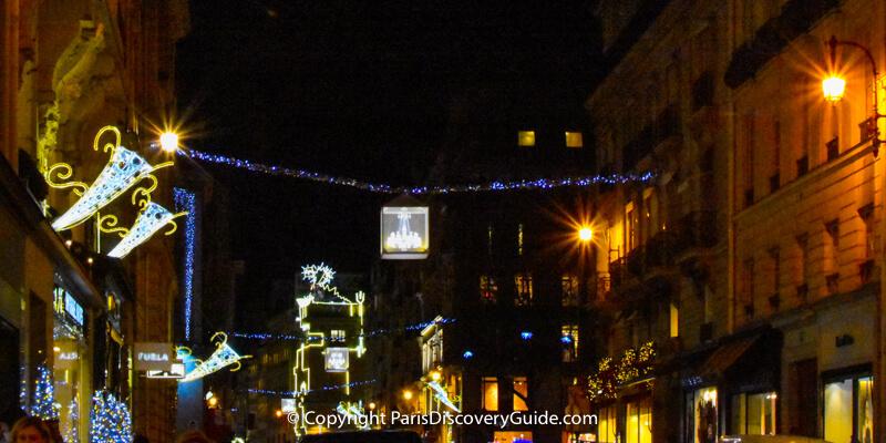 Rue du Faubourg Saint-Honoré Christmas Lights & Decorations