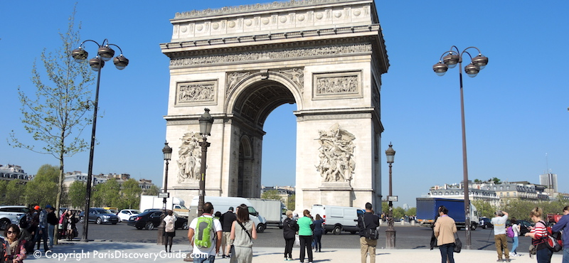 Arc de Triomphe, on Champs Elysées in the 8th Arrondissement