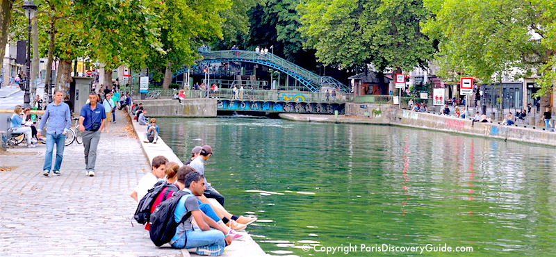 Canal Saint-Martin in Paris's 10th Arrondissement