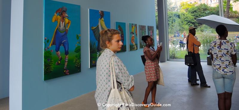Art exhibit at the Fondation Cartier in Paris's 14th Arrondissement