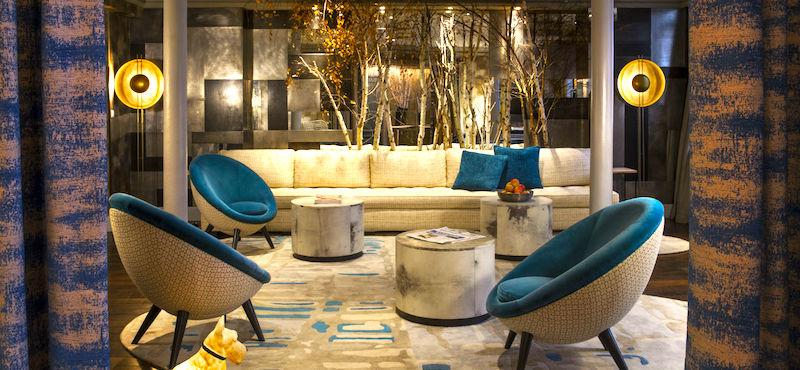 Mid-century modern meets luxury in Hôtel Thérèse's lobby