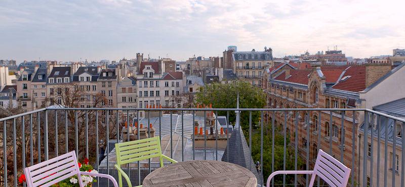Balcony view from Hôtel Parc Saint-Severin