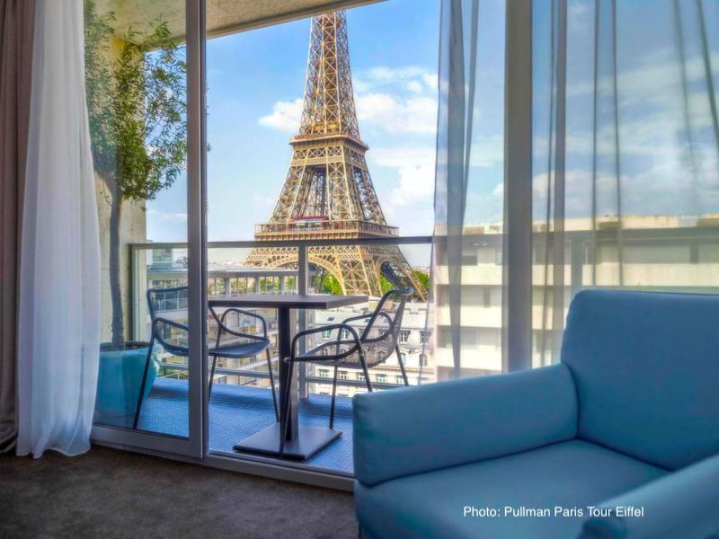 View from a suite in the Pullman Paris Eiffel Tower