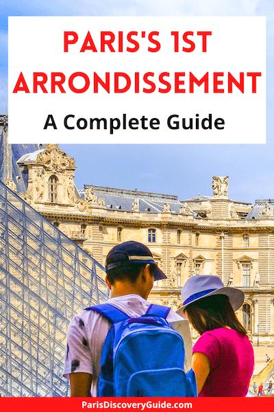 Near the Louvre Pyramid in Paris's 1st arrondissement