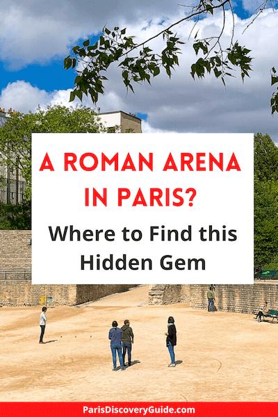 Game of boules in Arenes de Lutece, historic Roman arena in the Latin Quarter in Paris
