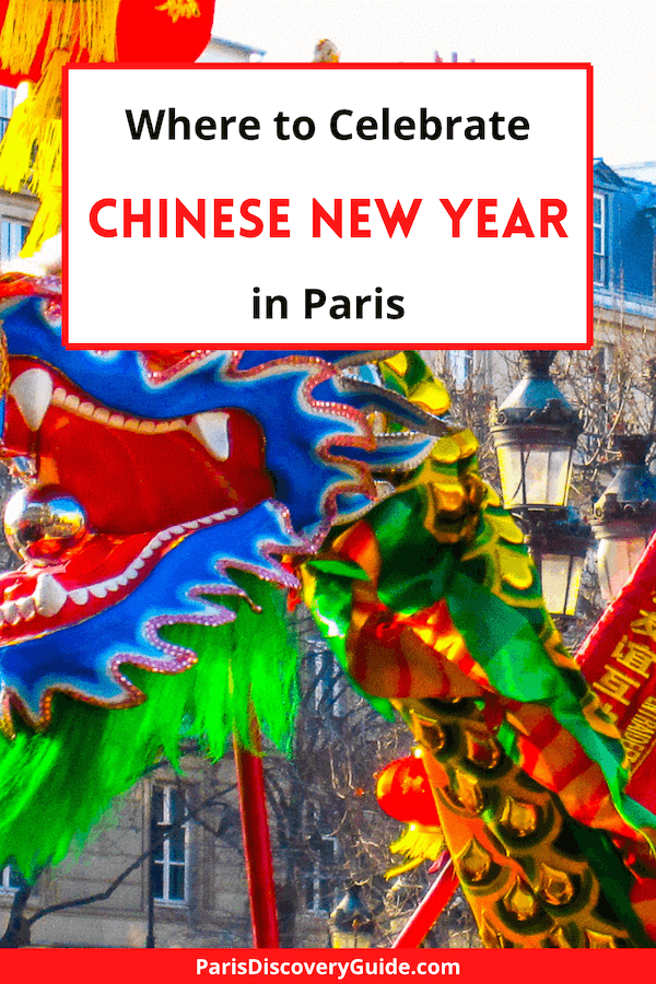 Chinese New Year parade by Paris Hotel de Ville