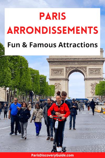 Arc de Triomphe and Champs Elysées on a car-free Sunday in Paris's 8th district