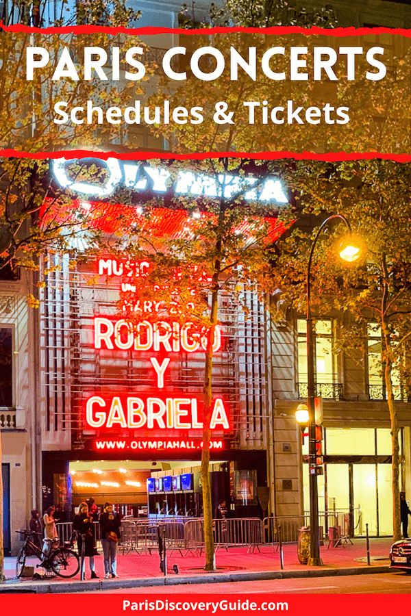 Olympia Music Hall, site of epic concerts in Paris