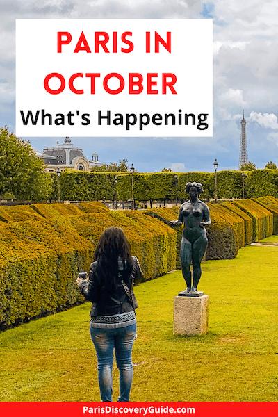 Tuileries Garden in Paris in October